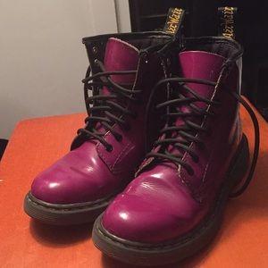 Purple patent leather dr.martens
